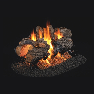 Real Fyre Charred Oak See-Thru 30-in Logs Only