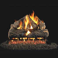 Charred Oak Gas Log 30-in with Burner Options