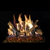 Real Fyre Charred Oak Stack Gas Logs 18-in with Burner Options