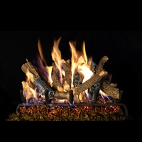 Real Fyre Charred Oak Stack Gas Logs 24-in with Burner Options