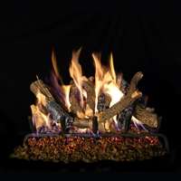 Real Fyre Charred Oak Stack Gas Logs 24-in Logs with Burner Kit Options