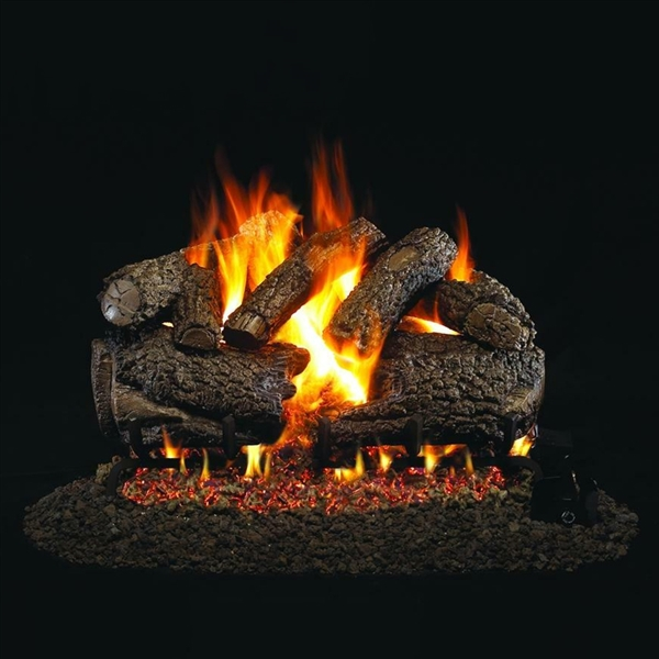 Real Fyre Charred Forest Oak 24-in Gas Logs Only