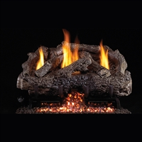 Real Fyre Charred Frontier Oak 30-in Logs with Vent-Free G10 Burner Kit