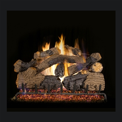 Real Fyre Charred Grizzly Oak 36-in Gas Logs Only