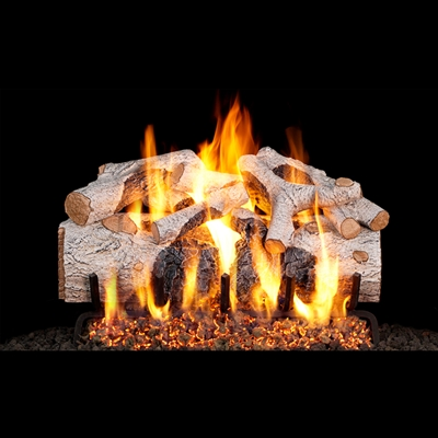 Real Fyre Charred Mountain Birch 18-in Gas Logs Only