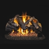 Real Fyre Charred Majestic Oak 30-in Gas Logs with Burner Kit Options