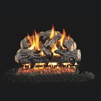 Real Fyre Charred Northern Oak 24-in Logs with Burner Kit Options