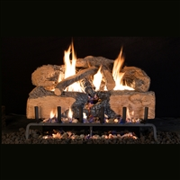 Real Fyre Charred Angel Split Oak 18/20-in Logs with Burner Kit Options