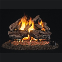 Real Fyre Charred Red Oak 18-in Logs with Burner Kit Options