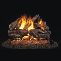 Real Fyre Charred Red Oak 24-in Logs with Burner Kit Options