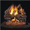 Real Fyre Charred Red Oak Gas Log Set 30-in with Burner Options