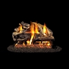 Real Fyre Charred Rugged Split Oak 24-in Logs Only