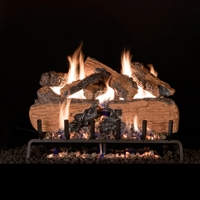Real Fyre Charred Split Oak 30-in Logs with Burner Kit Options