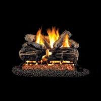 Real Fyre Charred Split Oak 24-in Log Set