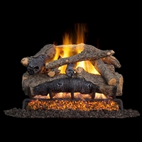 Real Fyre Colonial Oak 24-in Gas Logs with G52 Burner Kit Options