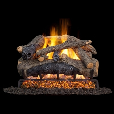 Real Fyre Colonial Oak 30-in Gas Logs with G52 Burner Kit Options