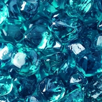 Fire Glass Plus Diamond Caribbean Blue Reflective Fire Glass 10-Lb