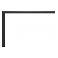 "Empire Boulevard Direct Vent Linear Fireplace 48"" Matte Black Front, 1 Inch"