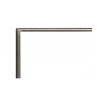 "Empire Boulevard Direct Linear Fireplace 48"" Hammered Pewter Front, 1 inch"
