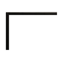 "Empire Boulevard Direct Vent Linear Fireplace 60"" Matte Black, 1 inch"