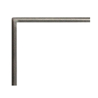 "Empire Boulevard Direct Vent Linear Fireplace 72"" Hammered Pewter Front, 1 inch"