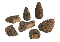 Decor Pack: Includes 4 small wood chips plus 3 small size pine cones