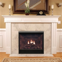 "Madison Clean-Face Direct Vent Deluxe Fireplace 36"" Millivolt Control Series"