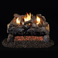 Real Fyre Evening Fyre Charred See-Thru Vent Free Gas Logs 16/18-in with G18 Burner Options
