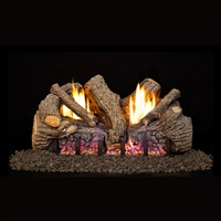 Real Fyre Evening Fyre Charred 24-in Vent-Free Gas Logs with G18 Burner Kit Options