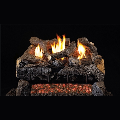 Real Fyre Evening Fyre Charred 30-in Vent-Free Gas Logs with G18 Burner Kit Options