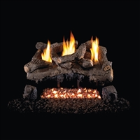 Real Fyre Evening Fyre Vent Free Gas Logs 24-in with G18 Burner Options