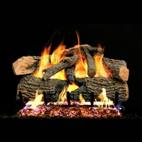 Real Fyre Charred Evergreen 24-in Logs with G52 Burner Kit Options