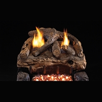 Real Fyre Evening Fyre Split 16/18-in Vent Free Gas Logs with G18 Burner Kit Options