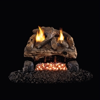 Real Fyre Evening Fyre Split See-Thru Vent Free Gas Logs 16/18-in with G18 Burner Options