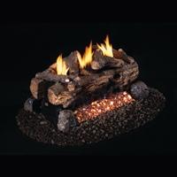 Real Fyre Evening Fyre Split See-Thru Vent Free Gas Logs 24-in with G18 Burner Options