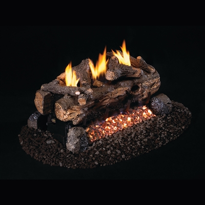 Real Fyre Evening Fyre Split See-Thru Vent Free 24-in Logs Only