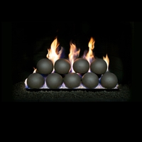 "Real Fyre 5"" Epic Black Fyre Spheres with 18-in P45 Burner"