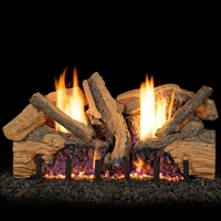 Real Fyre Foothill Split Oak 18-in Vent Free Gas Logs with G19A Burner Kit Options