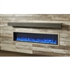 "Outdoor Great Room Gallery Mantel - Polished Midnight Mist 5""H x 8""D"