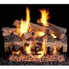 Real Fyre Gnarled Split Oak 30-in Gas Logs with Burner Kit Options