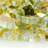 Fire Glass Plus 1/2-IN Goldrush Reflective Fireglass - 10 LB