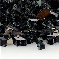 1/2-In Midnight Black Reflective Fire Glass 10-Lb