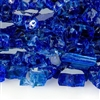Fire Glass Plus 1/2-IN Sapphire Reflective Fireglass - 10 LB