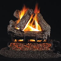 Real Fyre Rustic Oak 18-in Gas Logs with Burner Kit Options