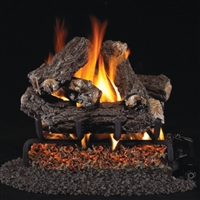 Real Fyre Rustic Oak Designer 16-in Gas Logs with Burner Kit Options