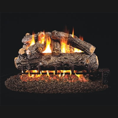 Real Fyre Rustic Oak Designer 18-in Gas Logs Only