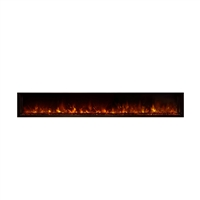 "Modern Flames Landscape 100"" x 15"" Full View Built In Electric Fireplaces"