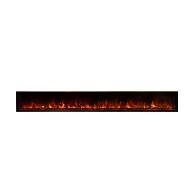 "Modern Flames Landscape 120"" x 15"" Full View Built In Electric Fireplace"