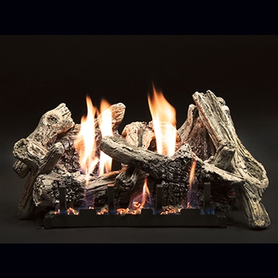 Empire 18-IN Driftwood-Burncrete Log Set