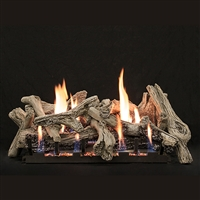 Empire 30-IN Driftwood-Burncrete Log Set with Slope Glaze Burner